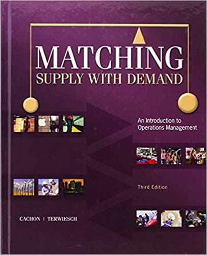 Matching Supply With Demand 3rd Edition Operations Management Management Books Textbook