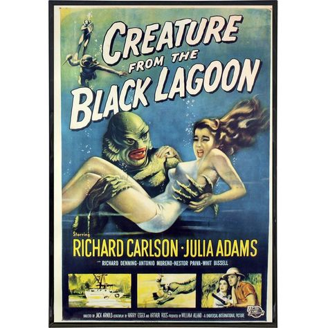 Creature from the Black Lagoon Film Poster Print - Framed Print