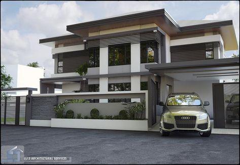 80 desain rumah mewah minimalis modern 2 lantai model