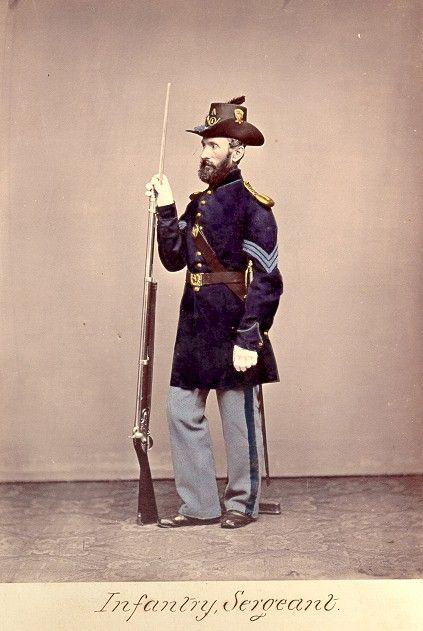 American Civil War Enlisted Uniforms Infantry Sargeant American Civil War Civil War Civil War History
