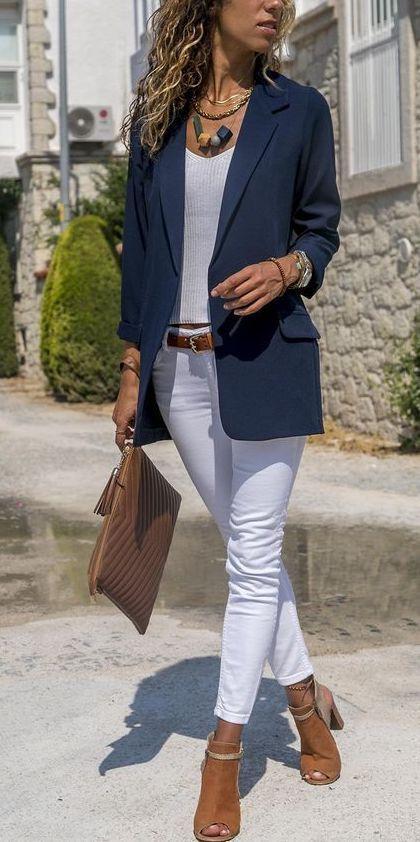 Vestiti Eleganti Con Jeans.Ecco Come Sembri Sempre Elegante Vestito Elegante Con Denim Bianco