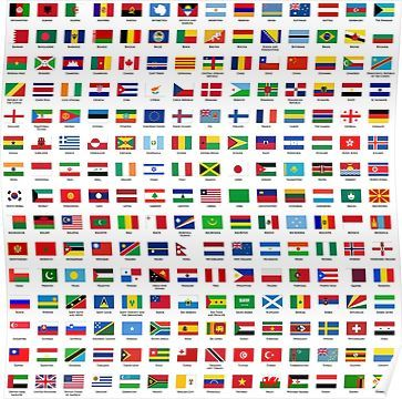 World Flags Poster Flags Of The World National Flag Countries Of The World