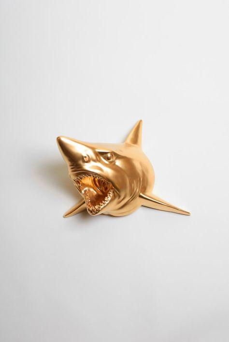 Resin Animal Ornament Shark Head Statue