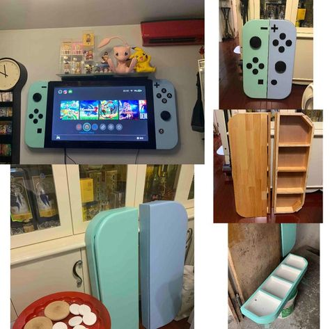 My friend was upset he didn't get the limited edition. Future House, My House, Motif Acnl, Do It Yourself Baby, Ac New Leaf, Animal Crossing Memes, Motifs Animal, Game Room Design, Gamer Room