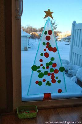 Contact Paper Tree Weihnachtsbasteln Basteln Mit Kindern
