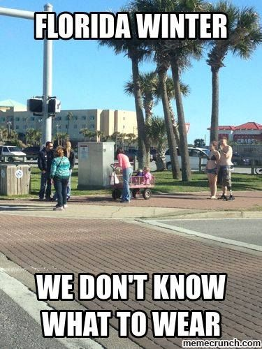 15 Downright Funny Memes You Ll Only Get If You Re From Florida Florida Funny Cold Weather Funny Southern Humor