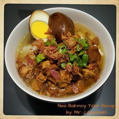 Nasi Bakmoy Telur Kecap By Jimmy Makan Malam Resep Masakan Resep Makanan Cina