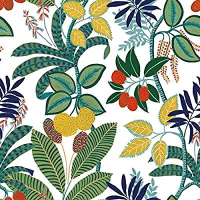 Finlayson Green Amp Yellow Funky Jungle Peel And Stick Removable Wallpaper In 2020 Peel And Stick Wallpaper Wallpaper Roll Wallpaper