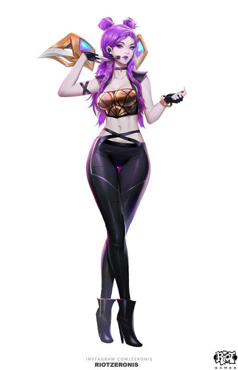 ArtStation - K/DA - Official Concept Art from League of Legends, ♦️ Zeronis ♦️