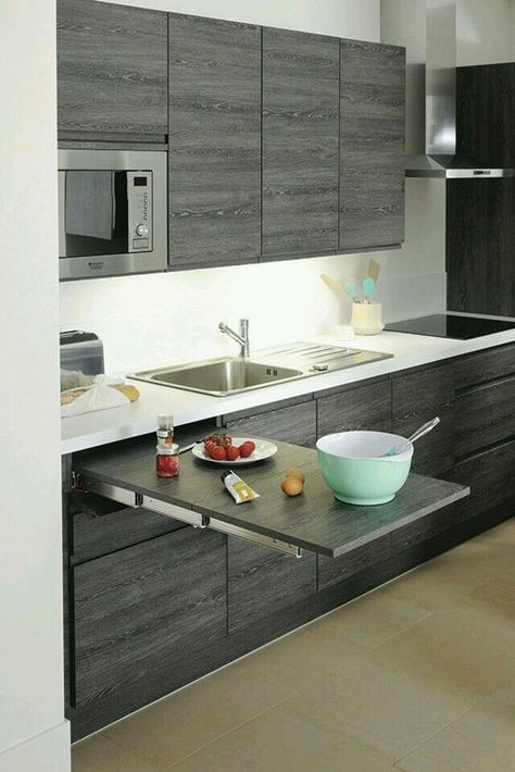 telescoping recessed countertop for small kitchens home decor in rh pinterest com