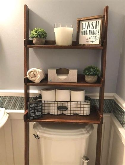 Over The Toilet Ladder Shelf Choose Color Stainpaint