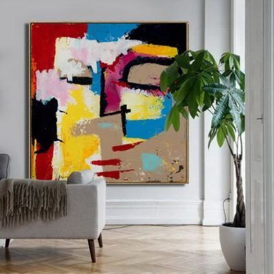 Kabbalah Large Abstract Painting Original Painting For Sale Ron Deri Abstract Art In 2020 Abstract Wall Painting Abstract Face Art Abstract Painting