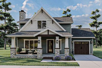 Plan 62908dj 3 Bed Cottage Style House Plan With A Rustic Look And Feel In 2020 Cottage Style House Plans Cottage Style Homes Cottage House Plans