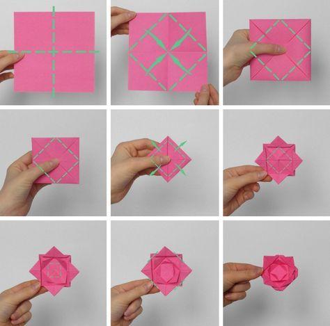 Hervorragend Origami Blume falten - 7 Ideen mit Faltanleitung für beliebte NF47