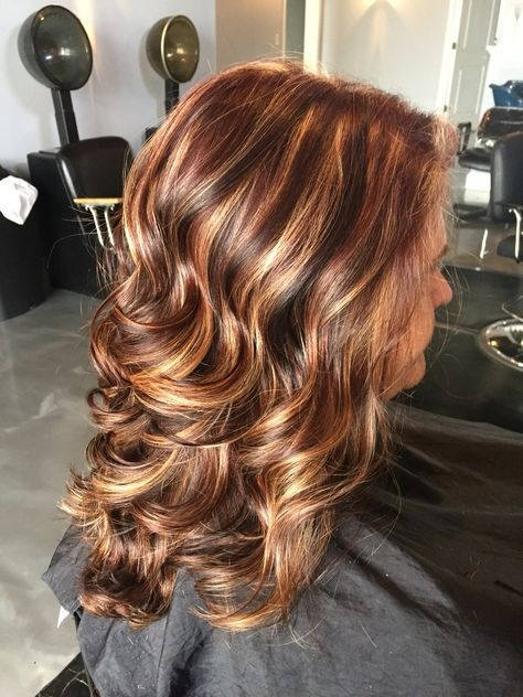 Dark Brown Hair With Medium Brown Lowlights Red Hair With Blonde Highlights And Violet Lo Hair Highlights And Lowlights Blonde Hair With Highlights Hair Styles