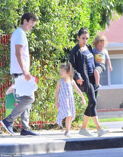 Mila Kunis And Ashton Kutcher Dote On Kids During Family Day Out
