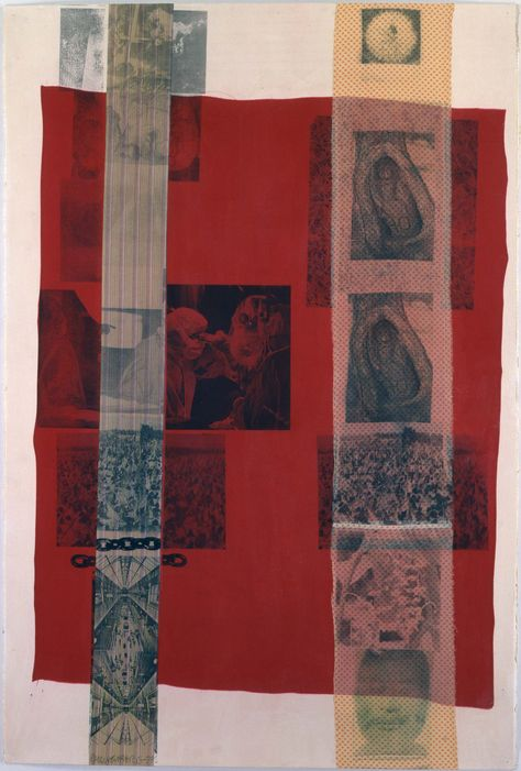 Robert Rauschenberg – Stran (Slide), These are works on paper with solvent transfer on fabric collaged to the picture surface Robert Rauschenberg, Collage Art, Collages, Graphic Design Posters, Zine, Art Inspo, Aesthetic Art, Art Photography, Wedding Photography