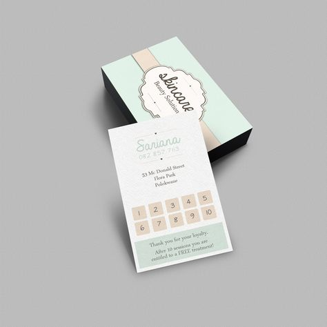 Loyalty Card For Skincare Beauty Solutions Www Vsdesigns Co Za Loyalty Card Design Loyalty Card Template Customer Loyalty Cards