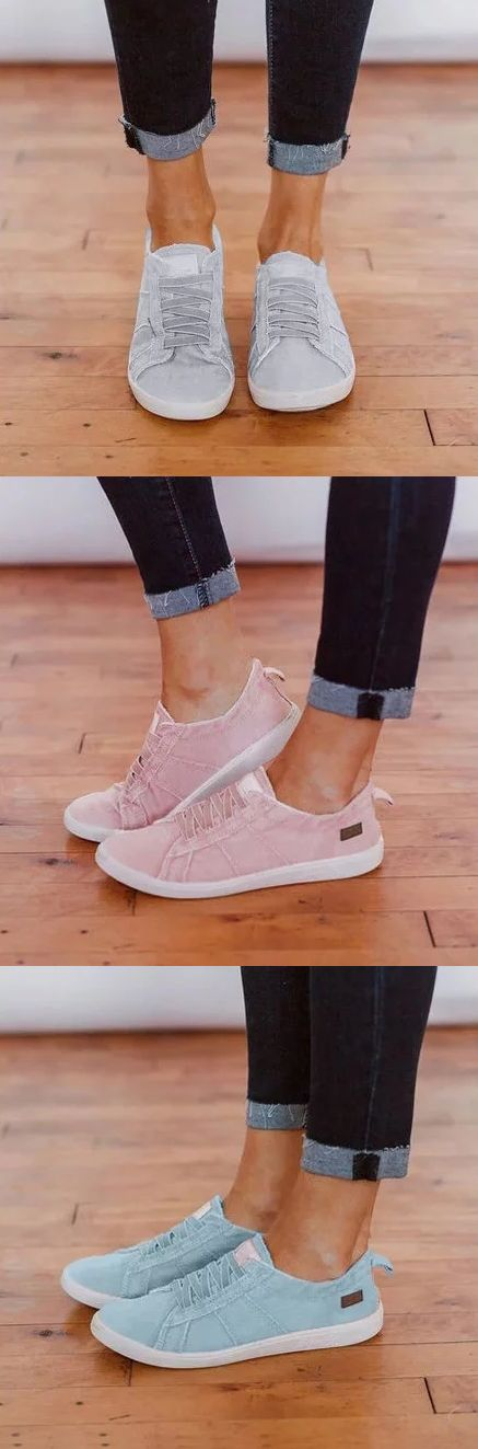 SHOP NOW>>$36.56 Women Vintage Slip-on Sneaker Shoes