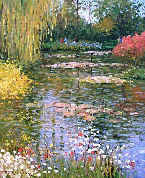 Monet's painting is the love of my life! My goal is to admire our beautiful nature in different forms of jewelries, just as Monet did that with his painting Nature Aesthetic, Flower Aesthetic, Impressionist Art, Claude Monet, Renaissance Art, Pretty Art, Landscape Paintings, Monet Paintings, Famous Artists Paintings