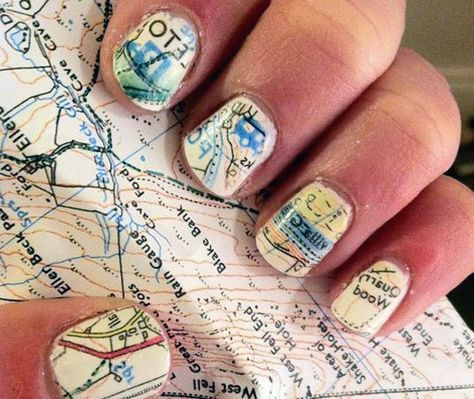 Love this idea!...now to only get my nails this long! Nails to DIY for: 20 Trendy Tutorials via Brit + Co.