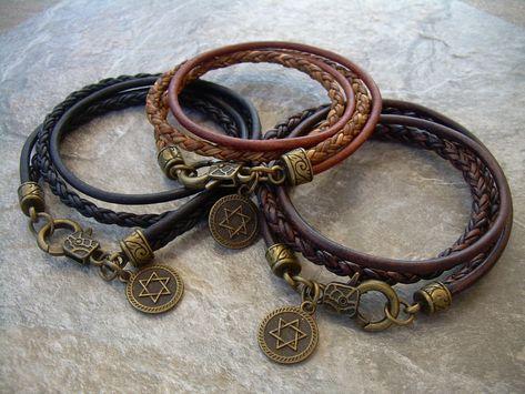 Leather Bracelets for Women Womens Bracelet Womens Jewelry Steampunk Bracelet Womens Black Leather Bracelet Antique Bronze,Triple Wrap