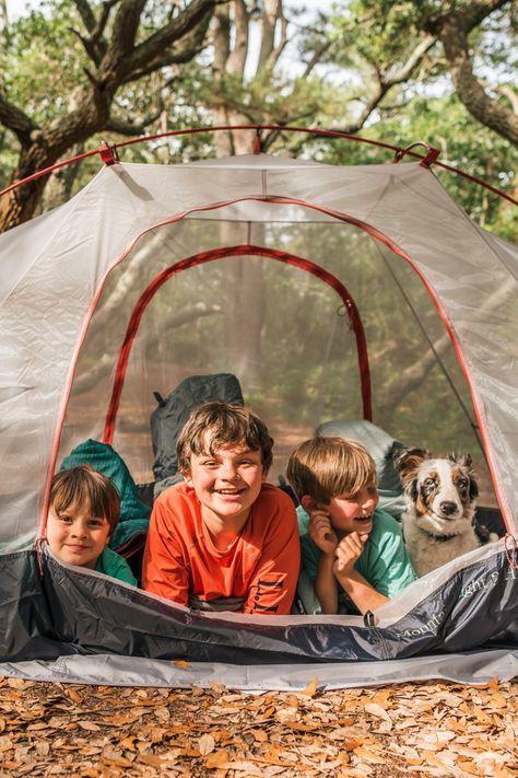 Family camping is all smiles. (Photo Instagram's 3.little.trees) #BeanOutsider #LLBean