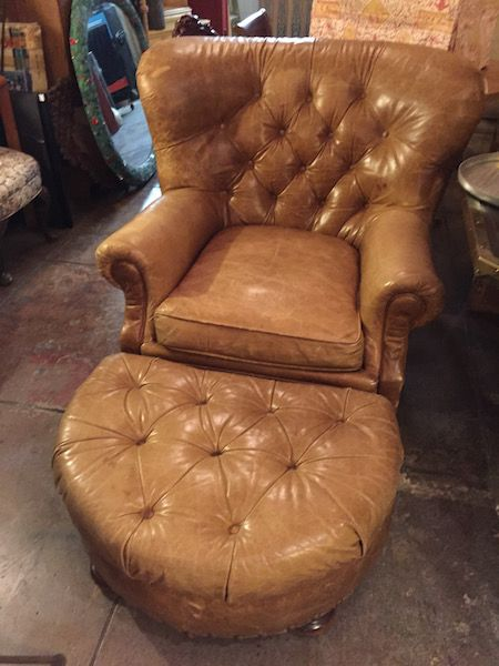 ... Full Grain Cowhide Wing Chair, Hand Tacked, Vintage Thomasville,  Taloned Legs, Comfortable, Maroon, Leather | Vintage // Chairs | Pinterest  | Ottomans,u2026
