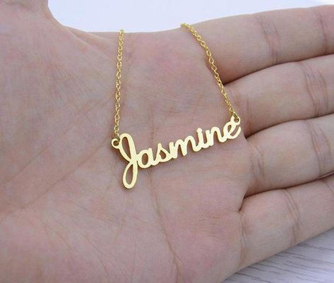 Personalized Jewelry Handmade Custom Jewelry Any Personalized Name Necklaces Women Men Silver Gold Rose Choker Necklace Engraved Bridesmaid Gift Idea