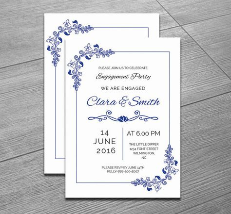 21 best 20+ Engagement Invitation Template Word, InDesign and PSD - engagement party invitation template