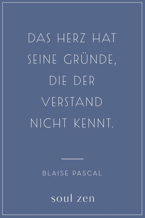 Plaise Pascal Zitat | Liebe | Das Herz hat seine Gründe, die der Verstand nicht kennt. | Spirituelle Sprüche und Weisheiten | Entdecke Soul Zen - deine Marke für Spiritualität und Achtsamkeit