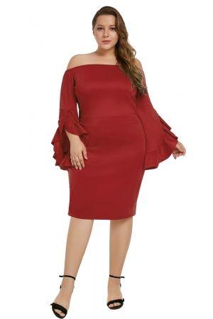 Red Plus Size Cha Cha Body-Con Dress | Bodycon Dress in 2019 ...