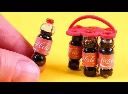 12 x 1//12 coke Bottles And Crate Dollhouse Miniature Bar Drink Decor Hot Toys US