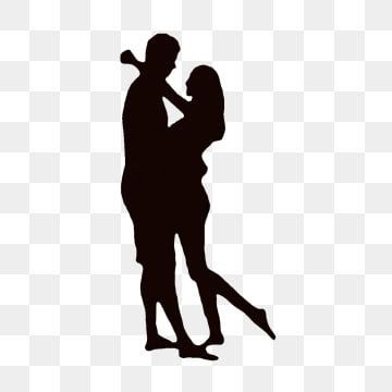 Cartoon Couple Silhouette Cuddling Each Other Png And Psd Couple Silhouette Couple Cartoon Couple Clipart