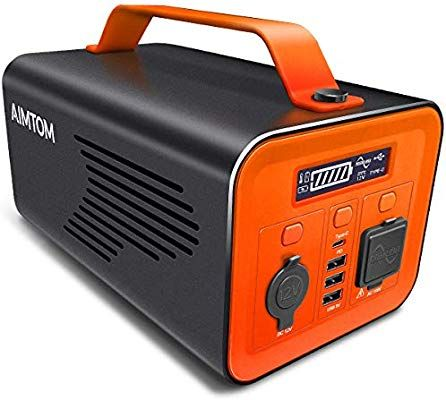 Aimtom 230wh 62400mah Portable Power Station Solar Rechargeable Battery Pack Generator W 110v 200w Ac In 2020 Portable Solar Generator Solar Generator Portable Power