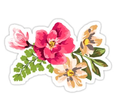Vintage Flower By Junkydotcom Vintage Flowers Floral Stickers Aesthetic Stickers