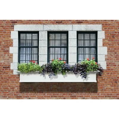Vinyl Window Plant Box 12 Inch X 72 In Flower Display Patio Garden Decor White In 2020 Yorkshire Window Box Window Plants Window Box