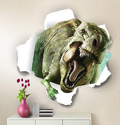 Homefind 3d Dinosaur Jurassic World Wall Decor Dinosaur Fathead