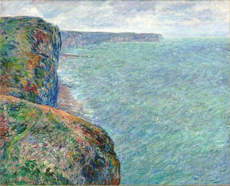 The Sea Seen from the Cliffs of Fecamp, 1881 Claude Monet - WikiPaintings.org