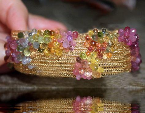Georgia Peach Beadwork Bracelets Luxury Boho Bracelets 14kt Gold Beaded Bracelet Gemstone Bracelets Stacking Bracelets Made in the US