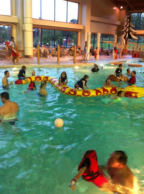 The Great Wolf Lodge is a wonderful hotel with an indoor water park for families to enjoy