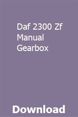 Daf 2300 Zf Manual Gearbox Exam Guide Best Motto Manual