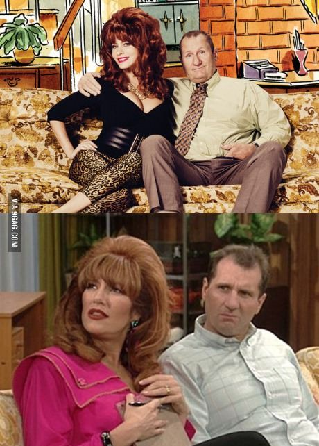 Sophia Vergara dressed up like Peggy Bundy and took a photo with Al (Ed O'Neill). SO AWESOME!