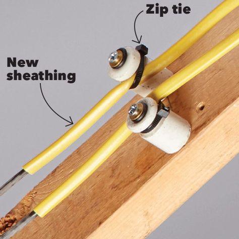 23 Zip Tie Hacks That Make Diying A Cinch Home Electrical Wiring Home Repair Tie