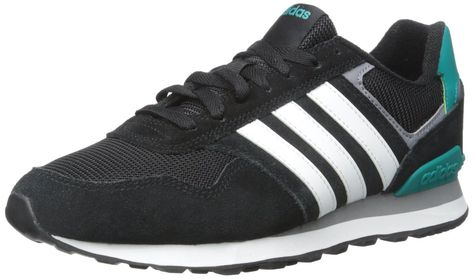 376d77d0b adidas NEO Men's 10K Lifestyle Runner Sneaker,Black/White,10.5 M US