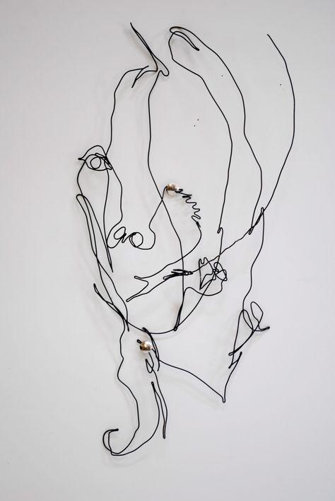 Blind Contour Line Drawing Self Portrait : Element i line on pinterest