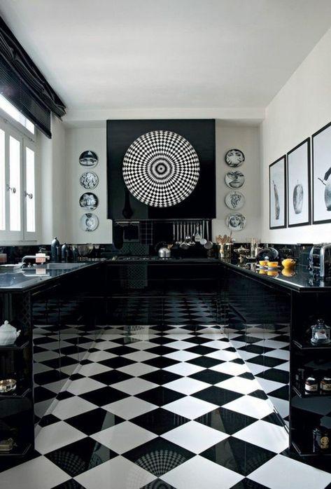 Le Carrelage Damier Noir Et Blanc En 78 Photos Cuisine