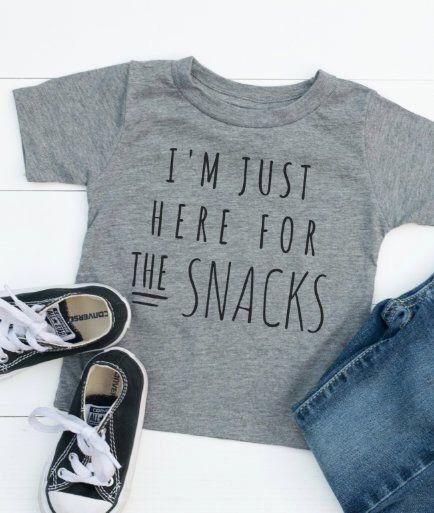 Funny Boy Shirt Funny Girl Shirt I/'m Just Here For The Snacks Shirt Toddler Shirt Funny Toddler Shirt Snack Shirt