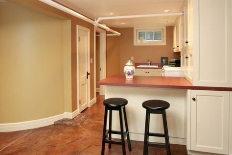 Small Basement Family Room Ideas   Small Kitchen With Bar Granite Floor  Nice Renovating A Basement
