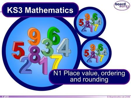N1 Place Value Ordering And Rounding Ratios And Proportions Place Values Mathematics